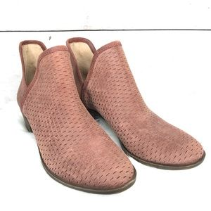 Lucky brand Ankle Booties Leather Pink Rose